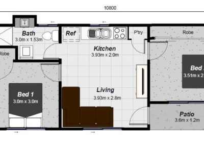 Fraser granny flat floor plan