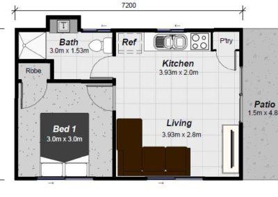 Moreton granny flat floor plan