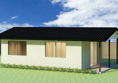 Moreton granny flat render