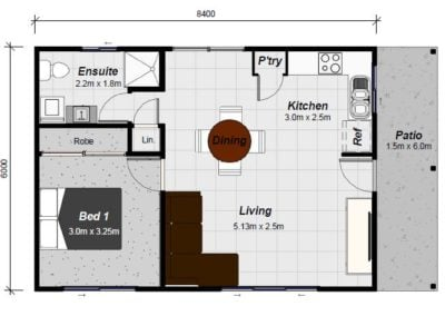 Brampton granny flat floor plan